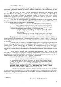 Nicolae Saramandu drept la replica CNSAS